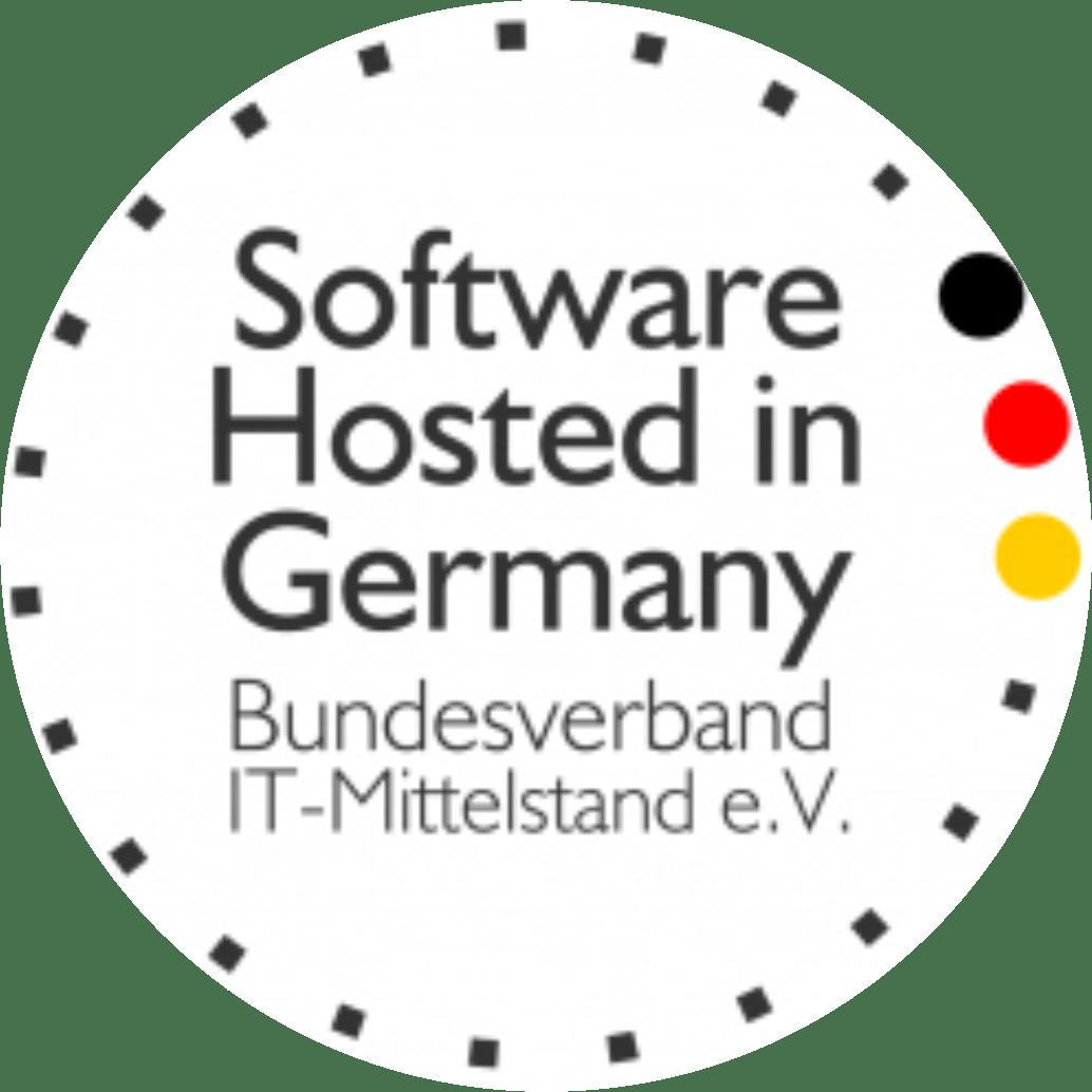 Zertifiziert mit dem Gütesiegel Software Hosted in Germany