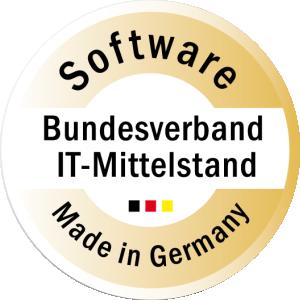 Zertifiziert mit dem Gütesiegel Software Made in Germany